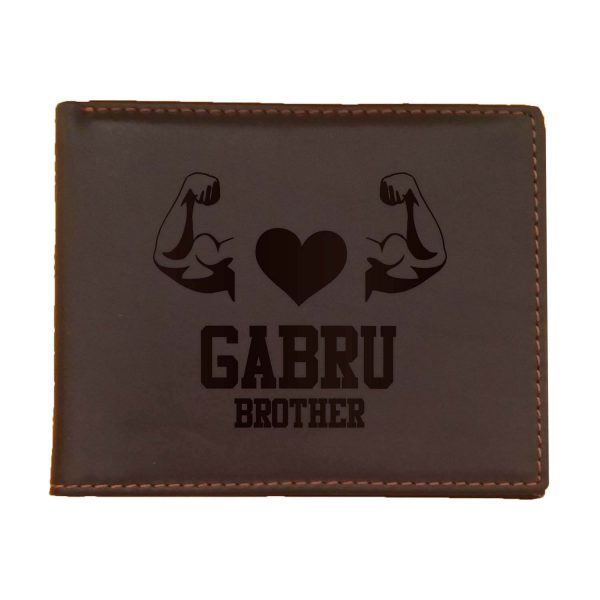 Gabru Brother Men's Leather Wallet for Brother_Brown