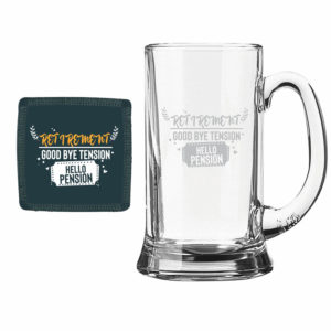 Good bye tension hello Pension retirement Beer Mug 1