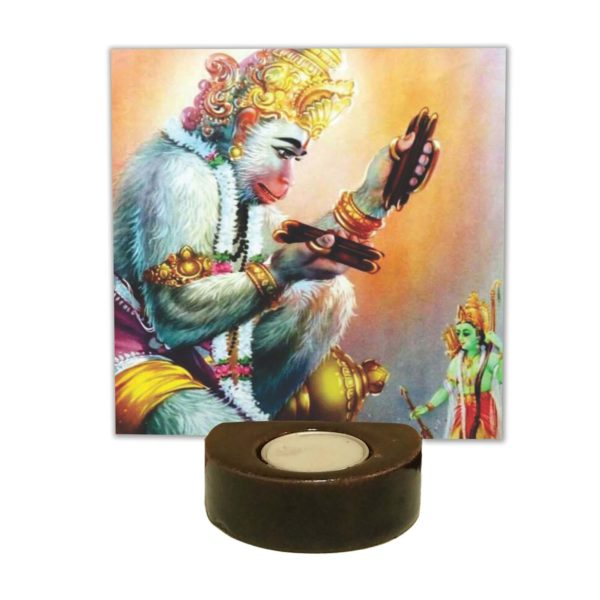 Lord Hanuman with Shri Ram Tea Light Holder