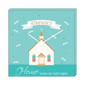 Personalized Happy Home Canvas Wall Clock
