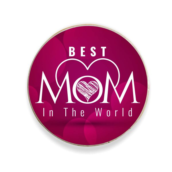 Heart Best Mom in The World Fridge Magnet