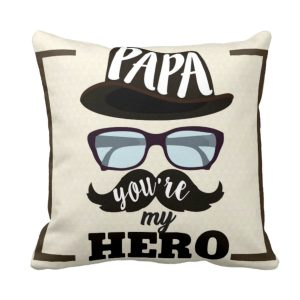 Hero Papa Dad Cushion Cover