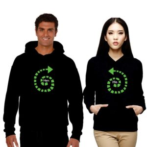 His and Hers Couple Sweatshirts