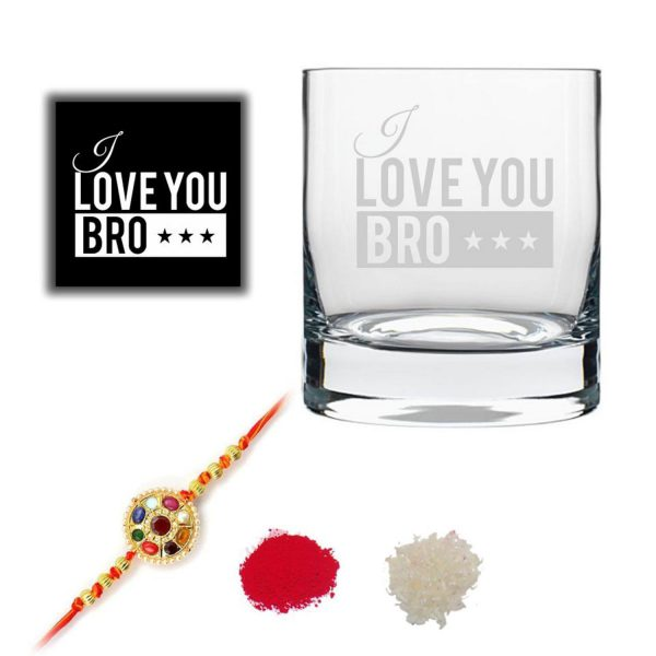 I Love Brother Whiskey Glass-1