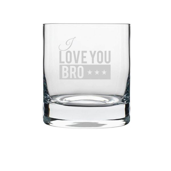 I Love Brother Whiskey Glass-2