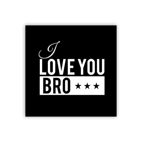 I Love Brother Whiskey Glass-3