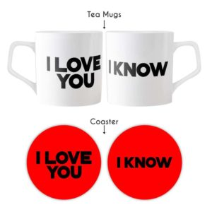 I Love You Couple Tea Mugs