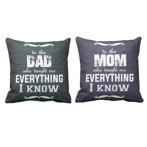 I Know Mom Dad is Everything Cushion Cover Set of 2