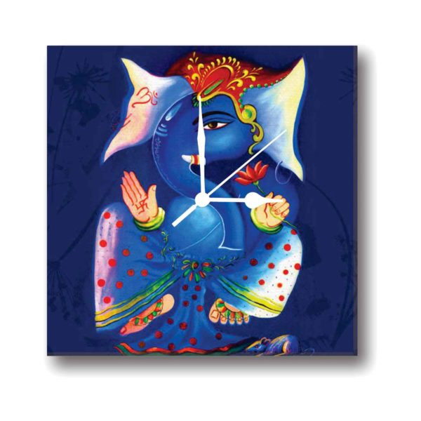 Ingenious Lord Ganesha Canvas Wall Clock