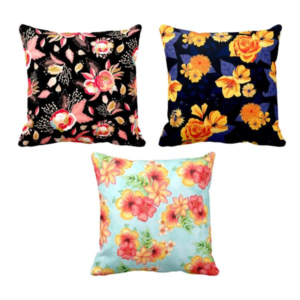 Adorable Splendid Ranunculus Appealing Floral Cushion Covers Set of 3