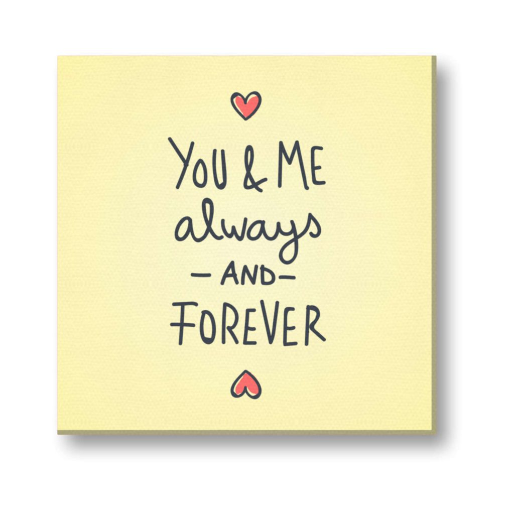 You and Me Always and Forever Painting Canvas Frame