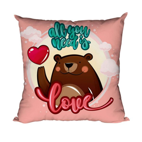 All You Need is Love Bear Cushion Cover