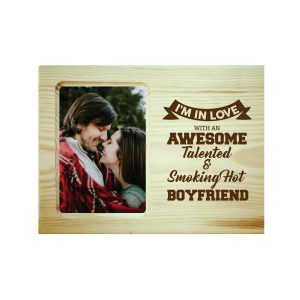 Awesome Talented Boyfriend Engraved Photo Frame