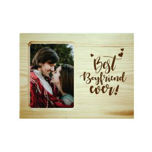 Best Boyfriend Ever Engraved Photo Frame
