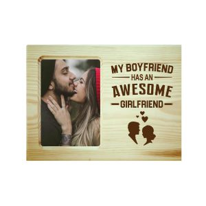 Awesome Girlfriend Engraved Photo Frame