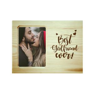 Best Girlfriend Ever Engraved Photo Frame