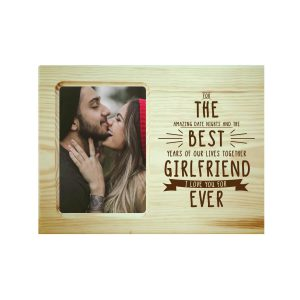 The Best Girlfriend Ever Engraved Photo Frame