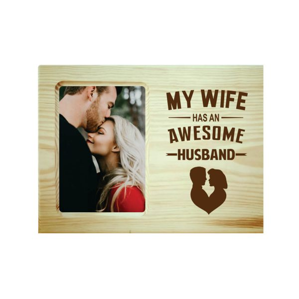 Awesome Husband Engraved Photo Frame