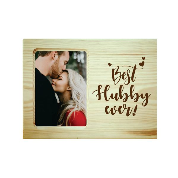 Best Hubby Ever Engraved Photo Frame