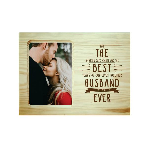 The Best Husband Ever Engraved Photo Frame