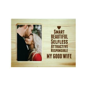 Beautiful Good Wife Engraved Photo Frame