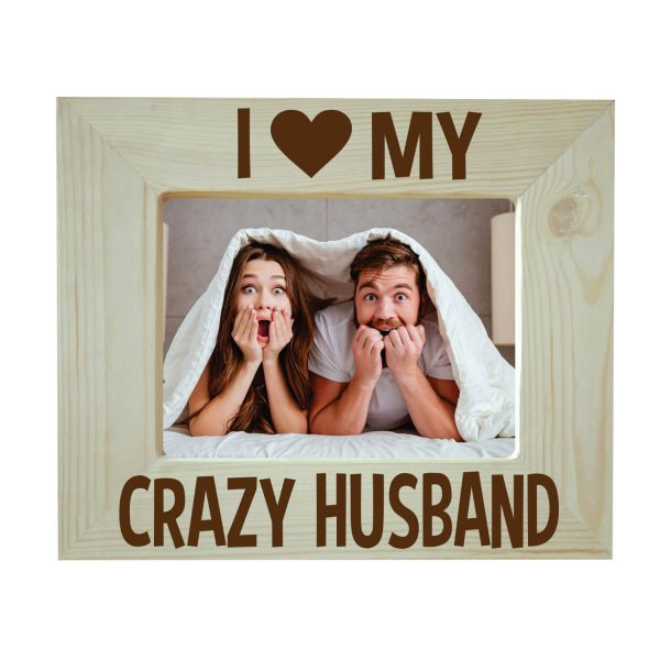 I Love My Crazy Husband Engraved Photo Frame