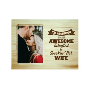 Awesome Talented Wife Engraved Photo Frame
