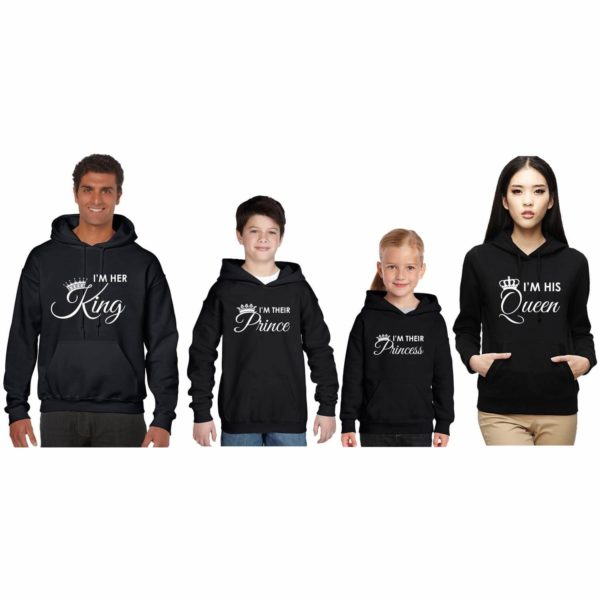 King and Queen Family Sweatshirt