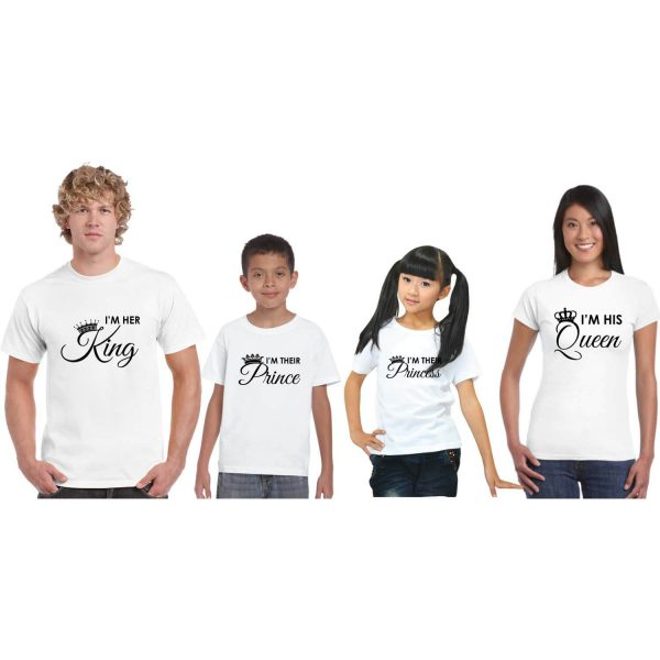 King and Queen Family Tshirts
