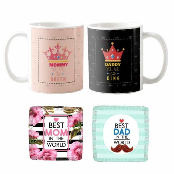 King Queen Mommy Daddy Couple Coffee Mug