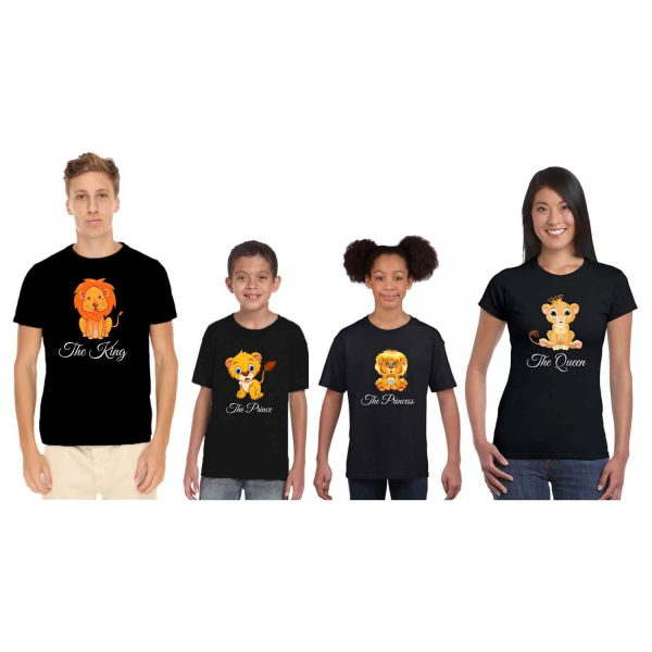 The Lion King and Queen Family Tshirts
