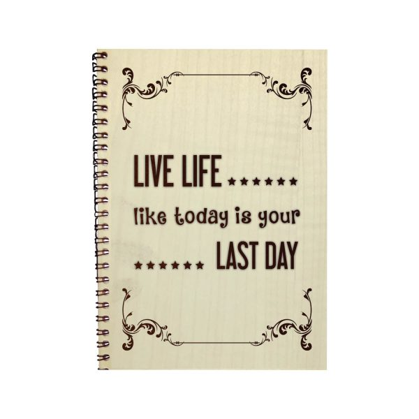 Engraved Live Life Everyday Motivational Diary