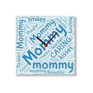 Loving Caring Mommy Square Shaped Wall Clock