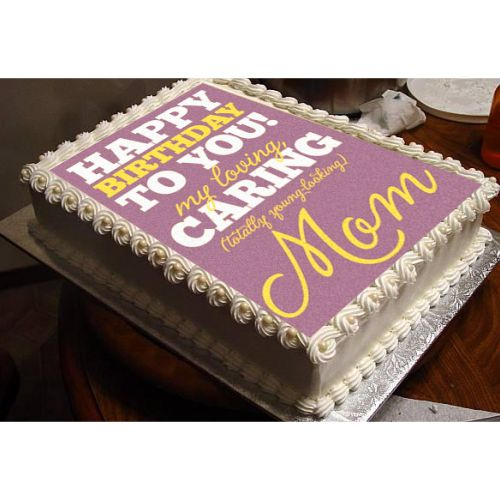 Pleasant Birthday Cake For Caring Mom Giftsmate Funny Birthday Cards Online Alyptdamsfinfo