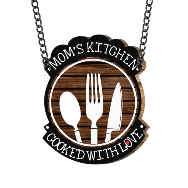 Moms Kitchen Cooked with Love Kitchen Wall Hanging