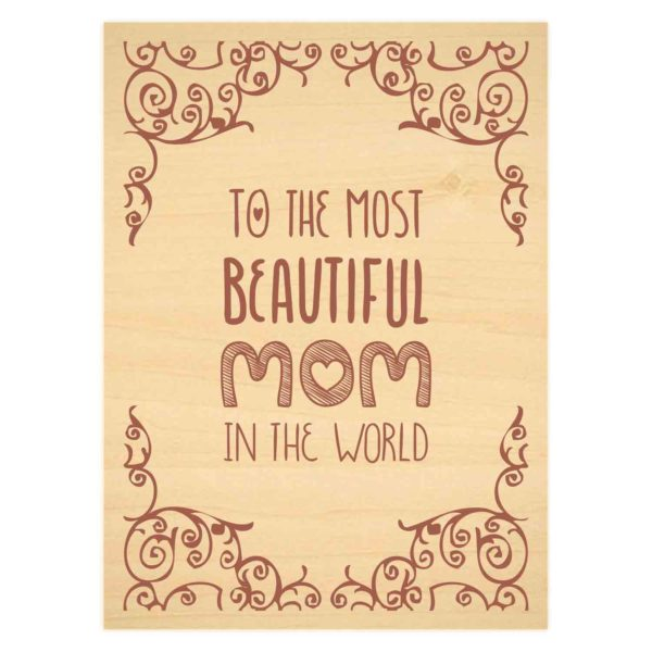 Most Beautiful Mom Engraved Plaque