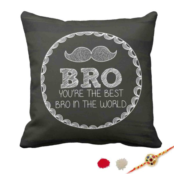 Moustache Bro Brother Cushion Cover