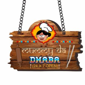 Mummy Da Dhaba Kitchen Wall Door Hanging