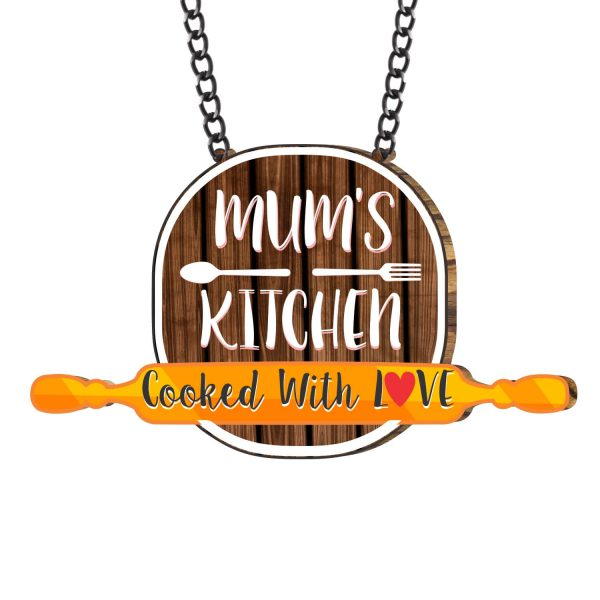 Mums Kitchen Cooked with Love Rolling Pin Kitchen Wall Hanging