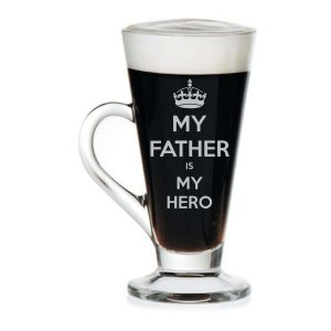 My Father My Hero Engraved Tea Mug