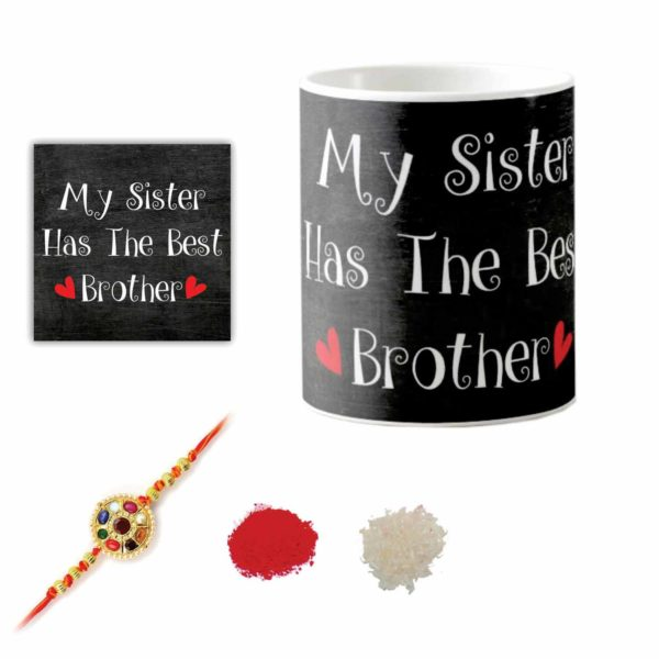 My Sister Has The Best Brother Coffee Mug With Coaster Roli Chawal