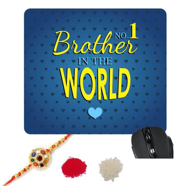 No 1 Brother In The World Mousepad-1
