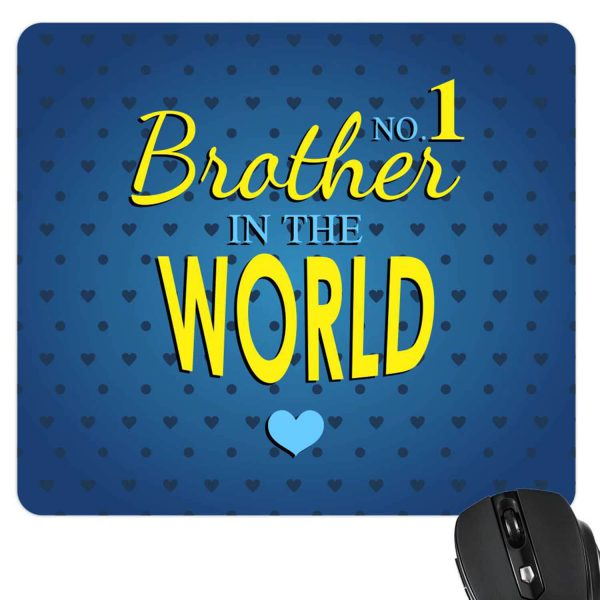No 1 Brother In The World Mousepad-2