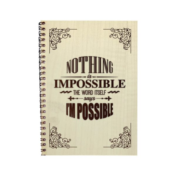Engraved Nothing Is Impossible Motivational Diary
