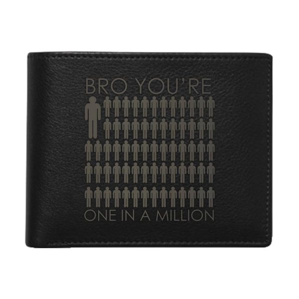 One In A Million Bro Men's Leather Wallet for Brother_Black