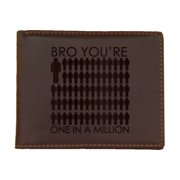 One In A Million Bro Men's Leather Wallet for Brother_Brown