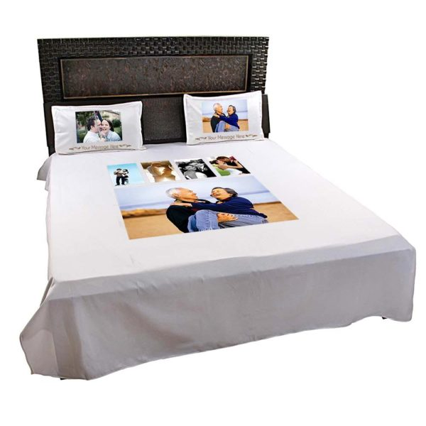 Personalised 5 Photo Collage Bedsheet (Off-White) 2_NEW