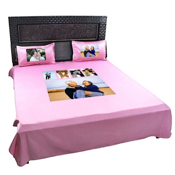 Personalised-5-Photo-Collage-Bedsheet-(Pink)-2