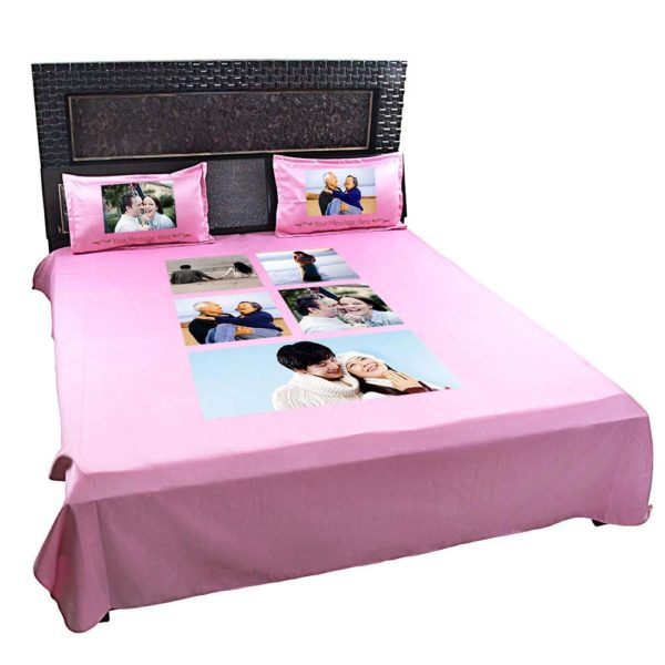 Personalised-5-Photo-Collage-Bedsheet-(Pink)-3