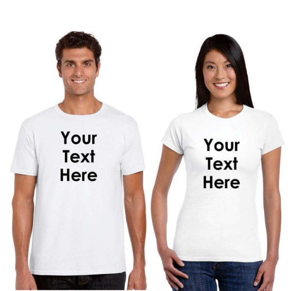 Personalised Cotton Couple T-shirt (White)